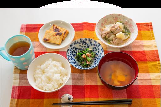 画像:朝食風景